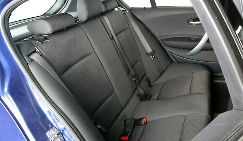 The rear seats are smaller than the compact Volkswagen.