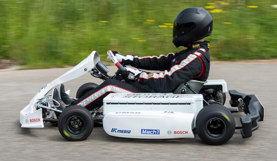 kjøre kart Bosch elektrisk kart: å kjøre og testmikrohybrid kjøre kart