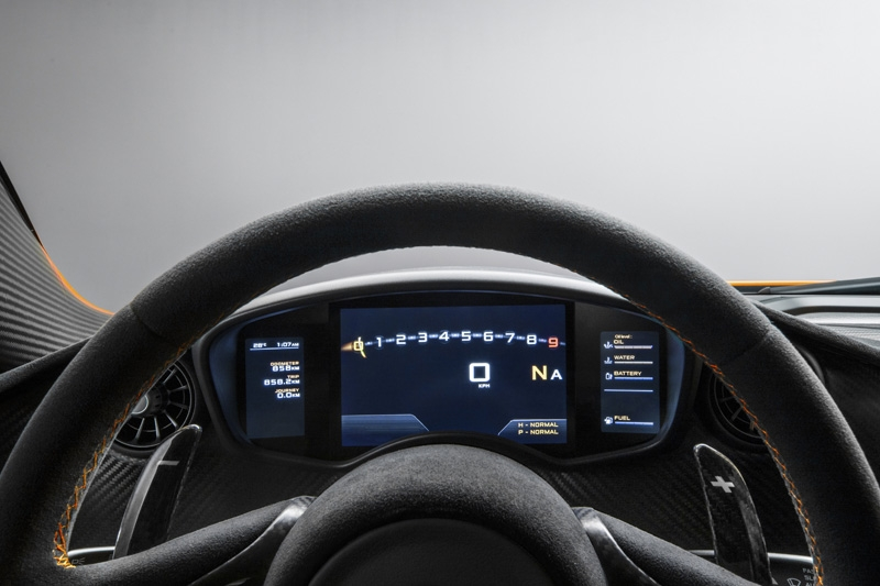 McLaren P1, the first images of its interior