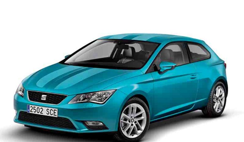 Seat Leon, with new aerodynamic kit