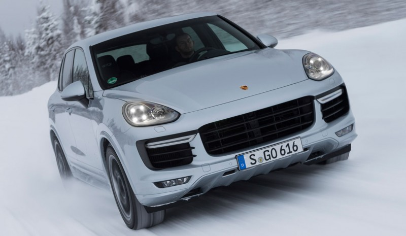 Contact: Porsche Cayenne GTS, GTS sports is written with