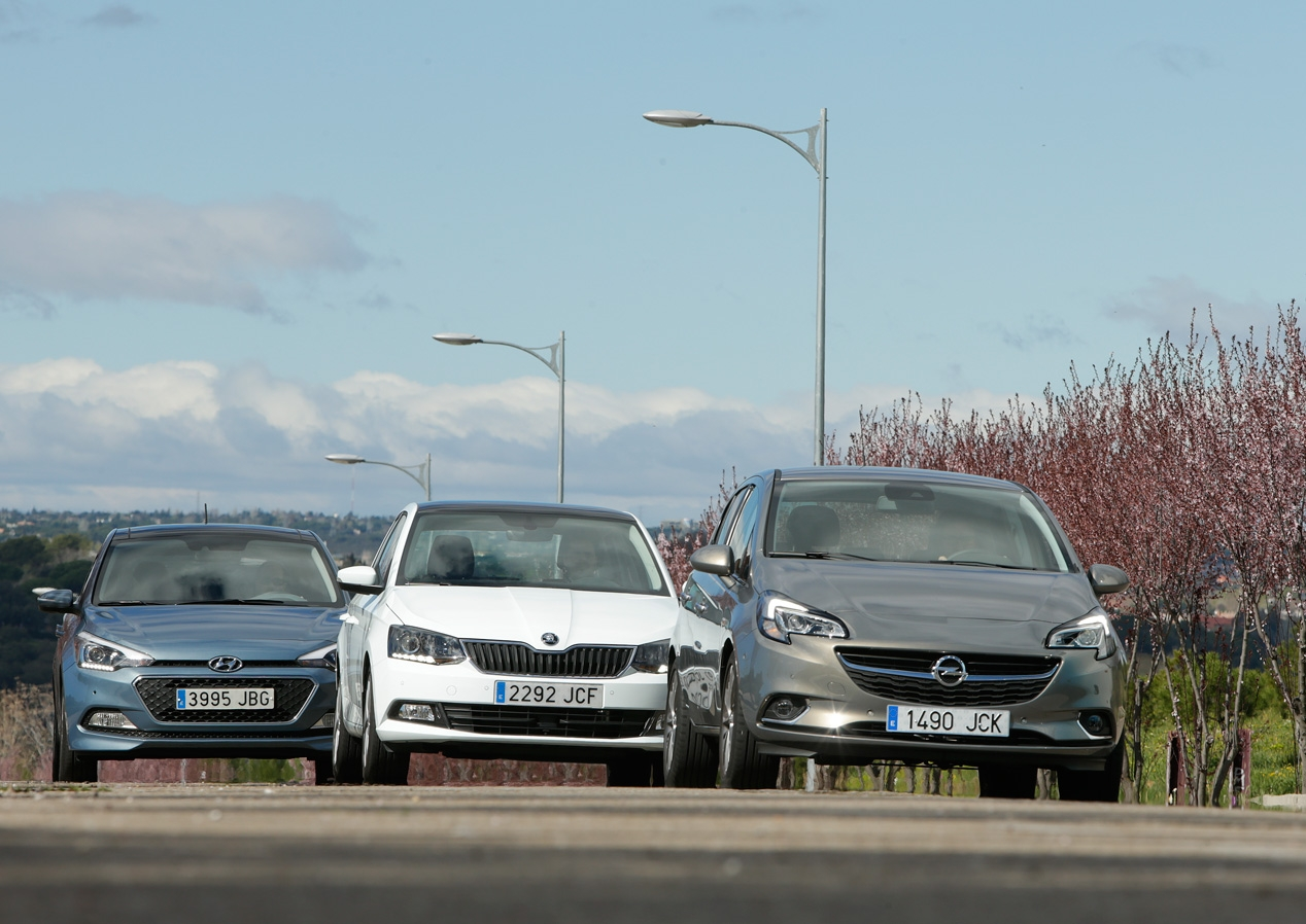Hyundai i20 Opel Corsa 1.3 CDTi against Skoda Fabia 1.4 TDi and