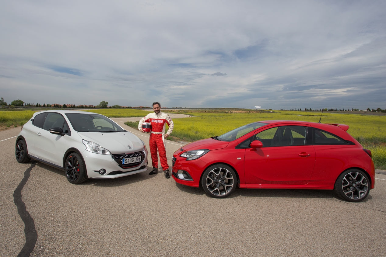 Opel Corsa OPC against Peugeot 208 GTI 30th