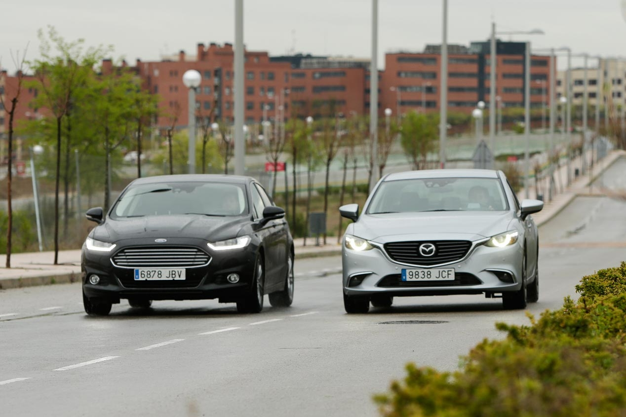 Ford Mondeo 2.0 TDCI 180 hp against Mazda 6 2.2 SKYACTIV-D 175