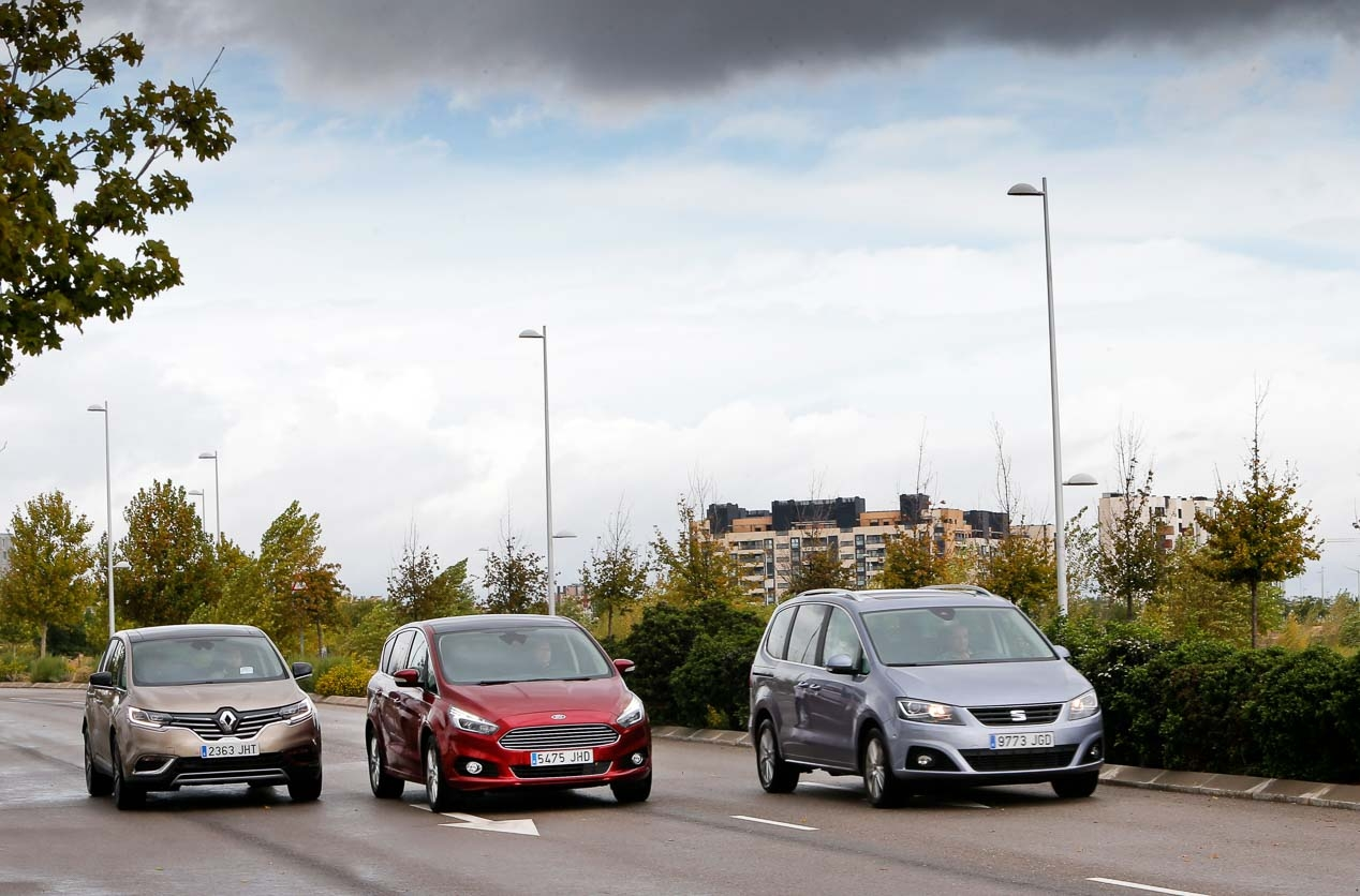 Ford S-MAX, Espace and Seat Alhambra