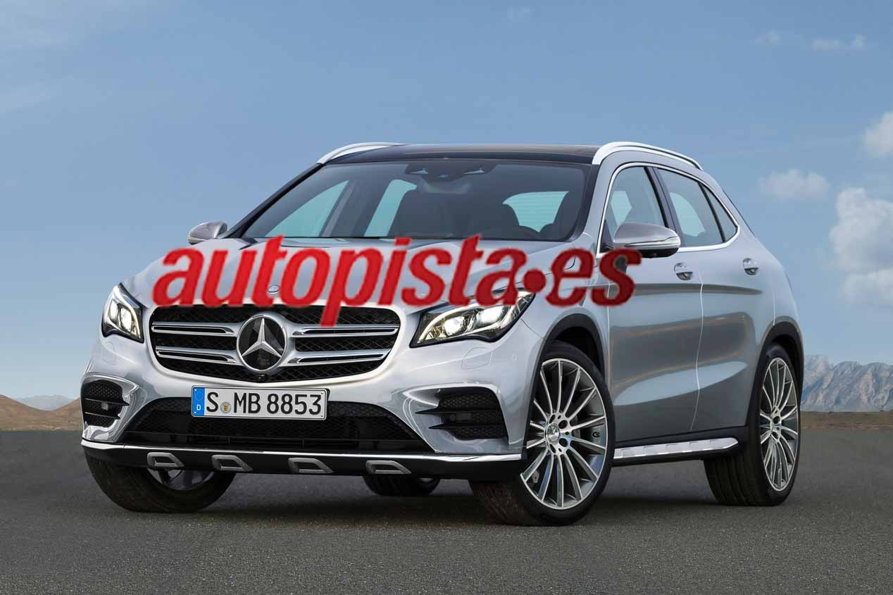 Mercedes Mercedes GLA GLB 2018 and 2017, new SUV with star