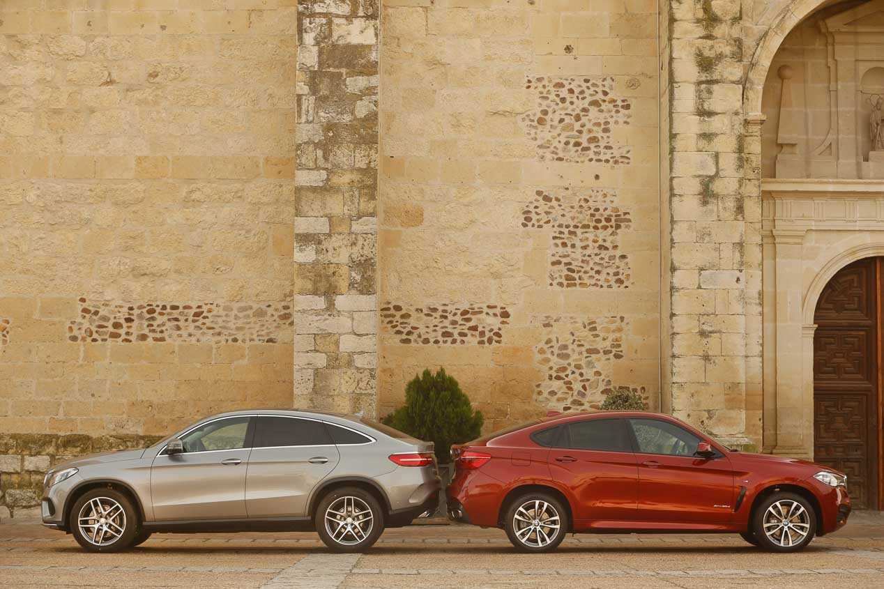 BMW X6 Mercedes GLE Coupe vs