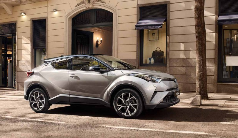Toyota C-HR, and is inside