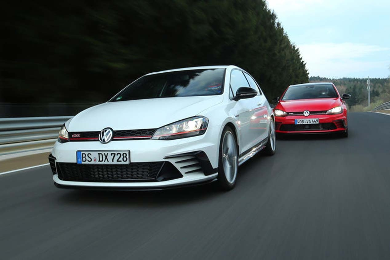 vw golf gti et clubsport clubsport s tester la plus puissante histoire golf gti. Black Bedroom Furniture Sets. Home Design Ideas