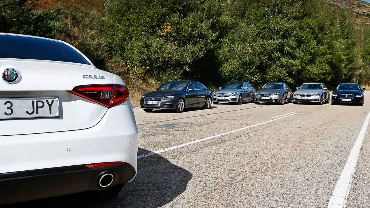 2016 Alfa Romeo Giulia faced rivals