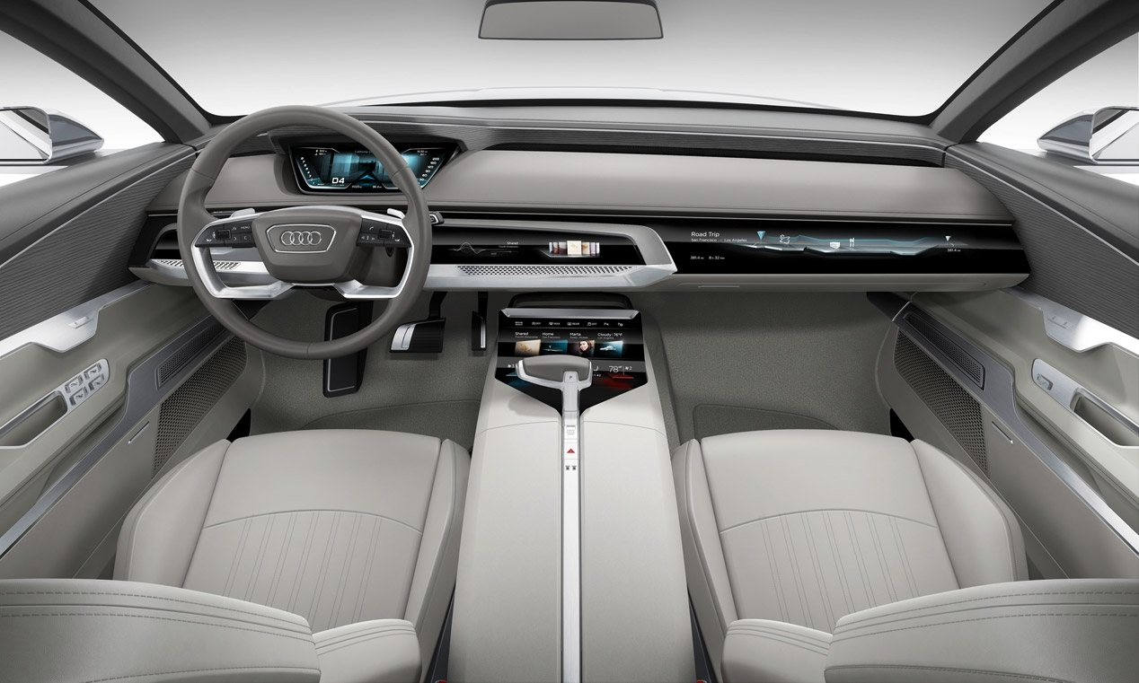Inside the Audi Prologue Concept, which foreshadows the interior of the Audi A8