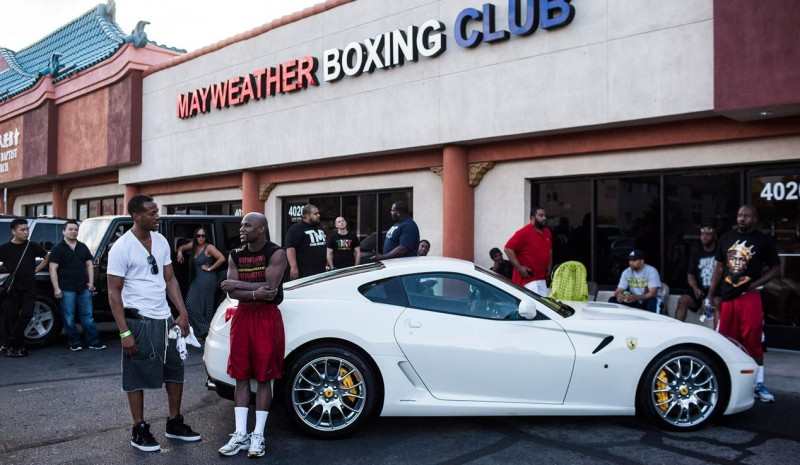 Mayweather garages and McGregor