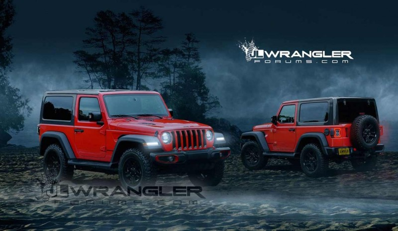 Jeep Wrangler 2018: first official pictures of legendary 4x4
