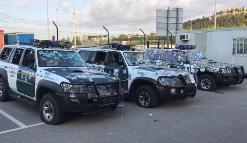 The Civil Guard cars were damaged by € 135,000 after protests from Barcelona